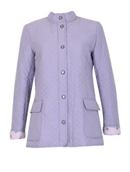 David Barry Light Weight Microfibre Quilted Jacket Lilac