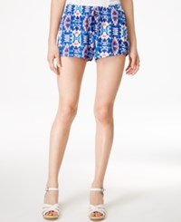 Stoosh Juniors' Printed Soft Shorts Blue Coral