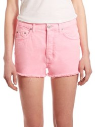Hudson Tori Colored Cut Off Shorts Luminous Pink
