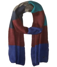 French Connection Best Felted Knit Scarf Blue Depths Rhododendron Scarves Multi