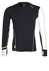Gore Running Wear Xrun Long Sleeved Top Black White