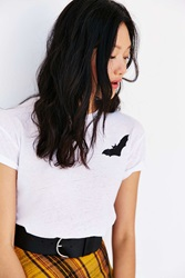 Mouchette Flying Bat Tee White