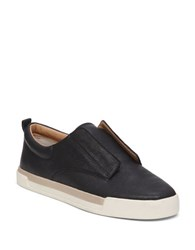 Lucky Brand Leather Slip On Sneakers Black
