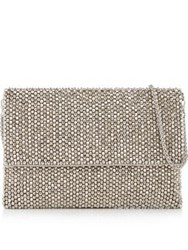 Reiss Minty Crystal Embellished Clutch Bag Silver