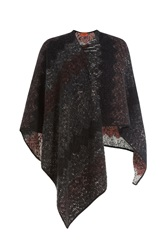 Missoni Printed Cape With Wool And Mohair Multicolor