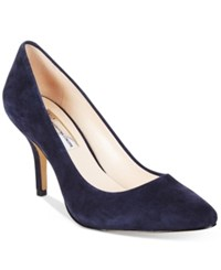 Inc International Concepts Womens Zitah Pointed Toe Pumps Women's Shoes Midnight Blue