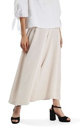 Topshop Women's Palazzo Trousers Nude