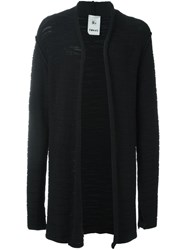 Lost And Found Rooms Open Front Cardigan Black