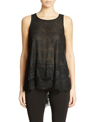 Buffalo David Bitton Lacy Stacey Sleeveless Lace Top Black