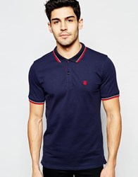 Selected Homme Polo Shirt With Tipped Collar Night Sky