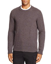 Bloomingdale's The Men's Store At Chunky Marled Crewneck Sweater Blue Brown