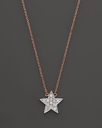Dana Rebecca Designs Diamond Julianne Himiko Star Necklace In 14K White Gold With 14K Rose Gold Chain 16