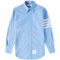 Thom Browne Woven Arm Stripe Oxford Shirt Blue