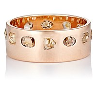 Dezso By Sara Beltran Women's Diamond And Rose Gold Band No Color