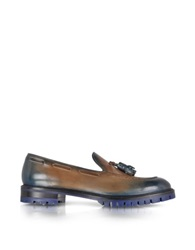 Fratelli Rossetti Chestnut And Cobalt Brera Loafer
