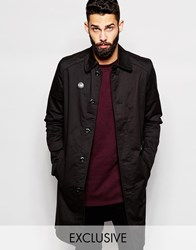 G Star G Star Beraw Exclusive To Asos Trench Coat Tore James Stretch Twill Biker Detail Black