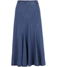 Cc Tencel Cutabout Skirt Blue