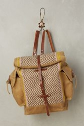 Anthropologie Toffee Handwoven Backpack