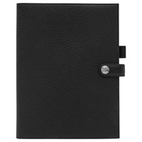 Reiss Nelson Leather Notepad Cover Black