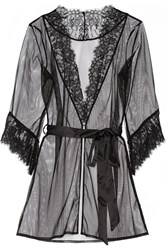 Agent Provocateur Idalia Lace Trimmed Tulle Robe
