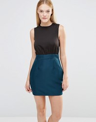 Ax Paris Two In One Dress Teal Green