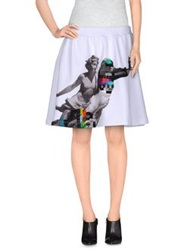Frankie Morello Knee Length Skirts White