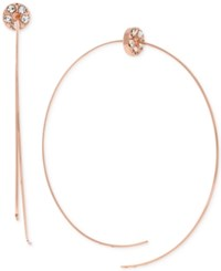 Bcbgeneration Rose Gold Tone Crystal Accented Wire Threader Earrings