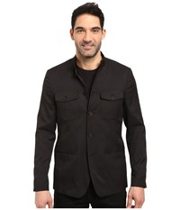 Kenneth Cole Five Button Military Blazer Black Men's Coat