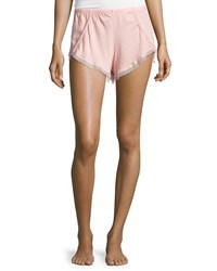 Skin Organic Lace Trim Tap Shorts Salmon
