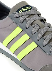 Topman Adidas Neo Vs Jog Grey And Lime Green Trainers