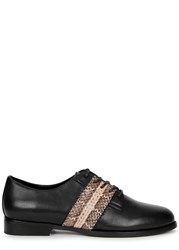 Opening Ceremony Dorrado Snake And Leather Oxford Shoes Black