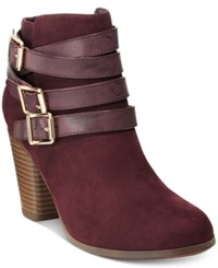 Material Girl Minah Ankle Booties Only At Macy's Women's Shoes Wine