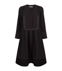 Carven Satin Trim Bib Dress Female Black