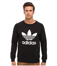 Adidas Trefoil Crew Black White Men's Long Sleeve Pullover