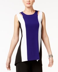 Alfani Striped Cutout Top Only At Macy's Alf French Plum