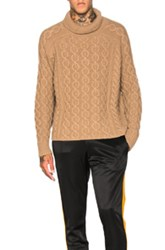 Burberry Prorsum Chunky Cashmere Sweater In Brown
