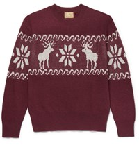 Levi's Evi's Vintage Cothing Intarsia Woo Bend Sweater Burgundy
