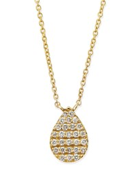 Yellow Gold White Diamond Teardrop Necklace Diane Kordas Yellow Gold White