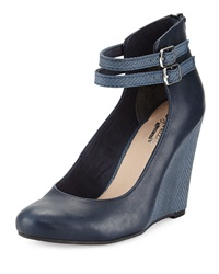 Seychelles Herestoyou Ankle Wrap Wedge Navy