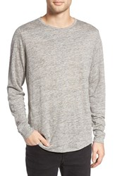 Treasure And Bond Men's Linen Long Sleeve T Shirt Grey Heather