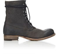 Peter Nappi Men's Leather Lace Up Boots Black