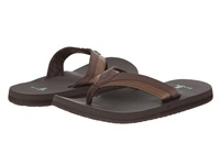 Sanuk Beer Cozy Light Dark Brown Men's Sandals