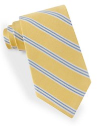 Lord And Taylor Racer Stripe Tie Yellow