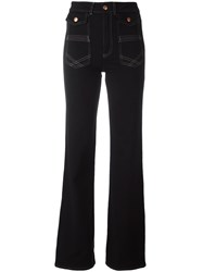 See By Chloe Bootcut Trousers Black