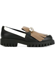 Pollini Fringed Loafers Black