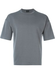 Jil Sander Short Sleeve Sweater Grey