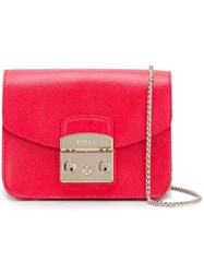 Furla Flap Closure Crossbody Bag Red