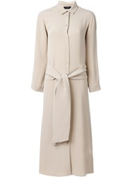Joseph Tied Shirt Dress Nude And Neutrals