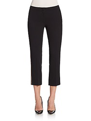 See By Chloe Polly Sequin Side Stripe Slim Cropped Pants Black