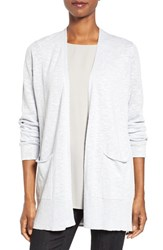 Eileen Fisher Women's Organic Linen And Cotton Open Front Cardigan India Sky
